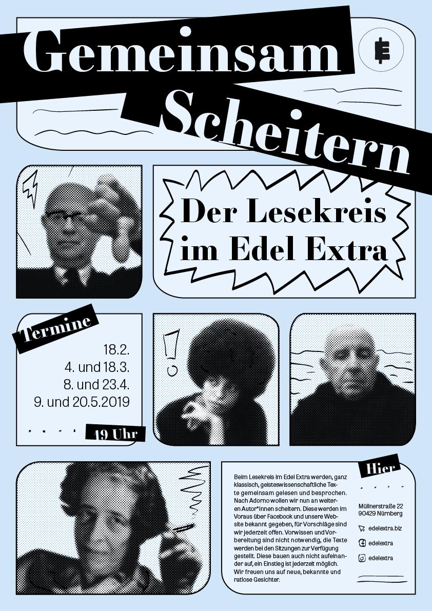 Plakat Gemeinsam Scheitern - Der Lesekreis im Edel Extra